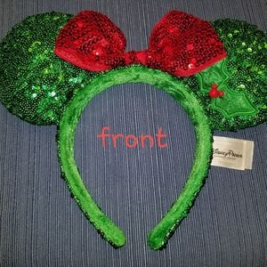 Disney Parks Christmas Minnie Mouse Ears Headband